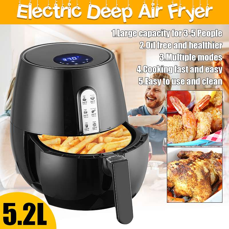 Smart Touch LCD Airfryer  1400W 5.2L - Dave's Deal Depot