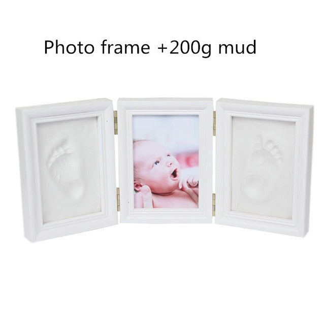 Baby Hand&Foot Print Clay Keepsake & Photo Tri-Fold Frame Kit - Dave's Deal Depot