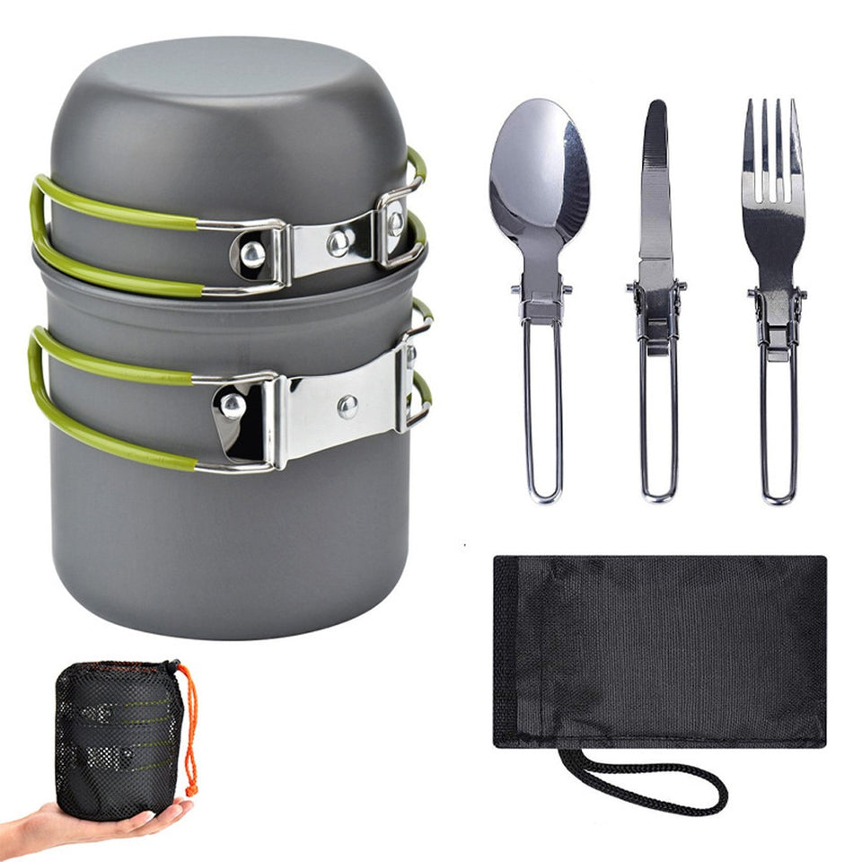 5pc Ultralight Camping Cookware and Utensils - Dave's Deal Depot