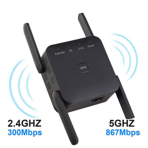 5G/2.4G Wireless WiFi Repeater Extender - Dave's Deal Depot