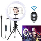 Dimmable LED Ring Light Selfie Studio W/ Tripod Stand & Phone clip - Dave's Deal Depot