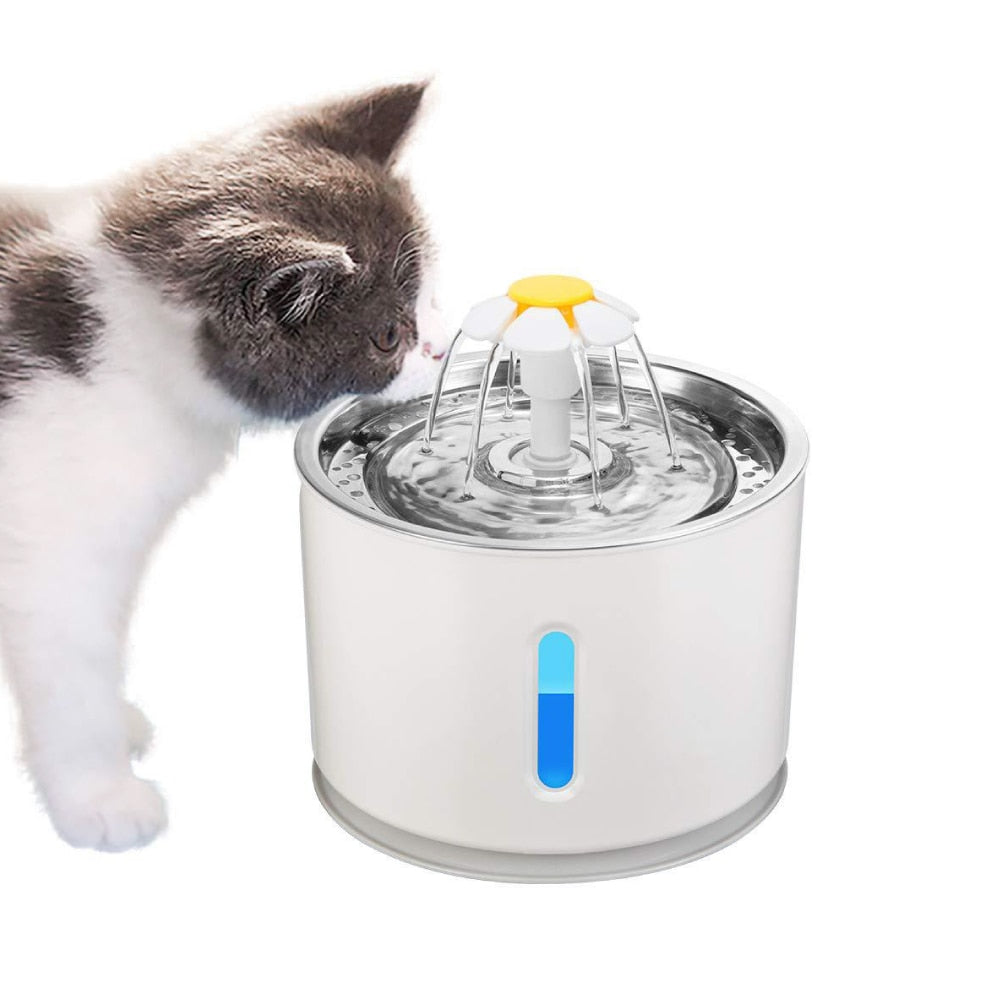 2.4L LED Pet Water Fountain - Dave's Deal Depot