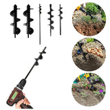 Garden Auger Spiral Drill Bit for Flower Planting & Digging - Dave's Deal Depot