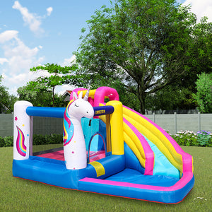 Unicorn Bounce House Water Slide With Blower - Dave's Deal Depot