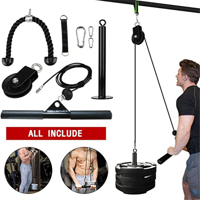 Home Strength Workout Pulley Machine - Dave's Deal Depot