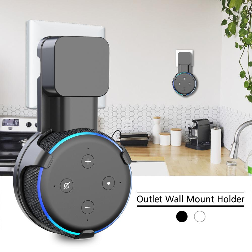 Outlet Wall Mount Stand Hanger for Amazon Alexa Echo Dot 3rd Gen
