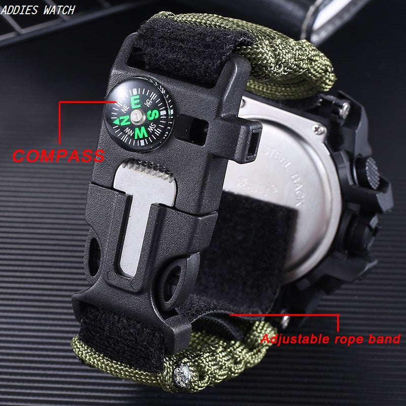 5-IN-1 Survival Bracelet Watch - Dave's Deal Depot