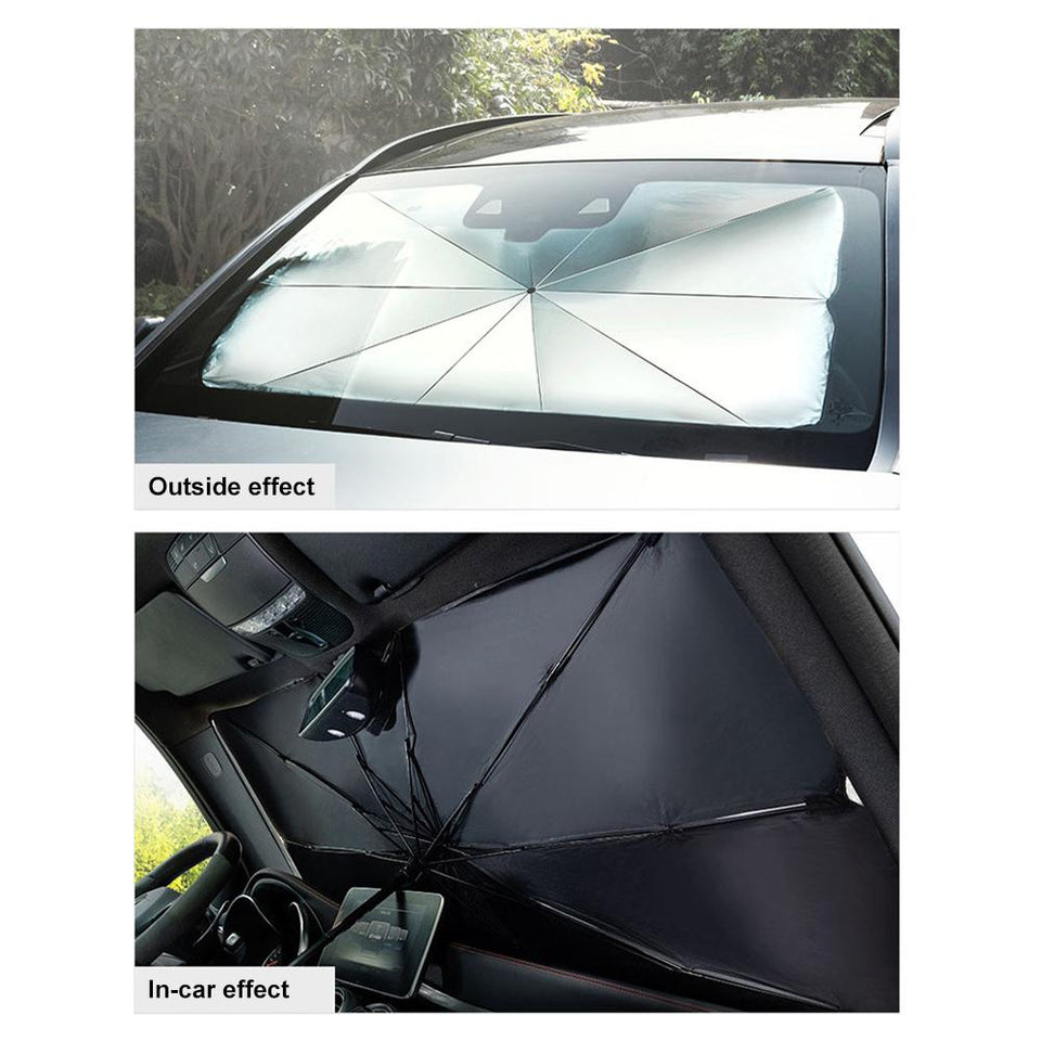 Collapsible Car Windshield Sunshade - Dave's Deal Depot