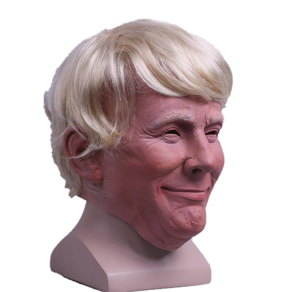President Trump Halloween Mask With Fixable Hair