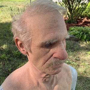 Old Man Adult Halloween Mask - Dave's Deal Depot