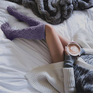Women Winter Knitted Long Socks