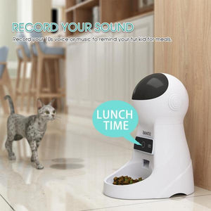 Scheduled Pet Feeder W/ Wifi Voice Record and Camera - Dave's Deal Depot