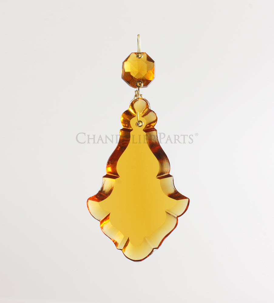 Colored Czech Crystal Pendalogue <br> (Multiple sizes/colors)
