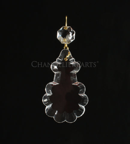 Czech Crystal Pendalogue w/ Top Bead <br> (9 sizes)