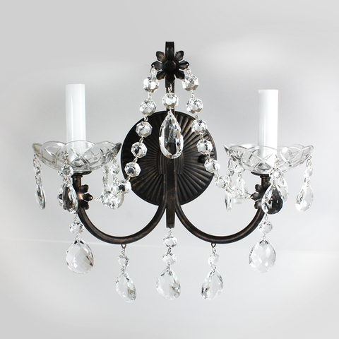 Schonbek Exclusive 2-Light fixture.  #1024U-76 (SSBE)