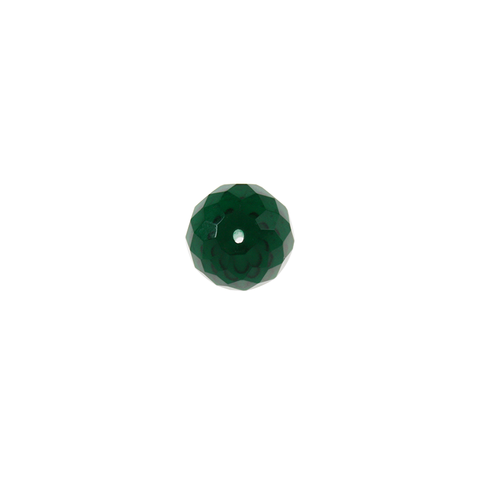 18mm Zircon Green Faceted  Bead w/ Center hole