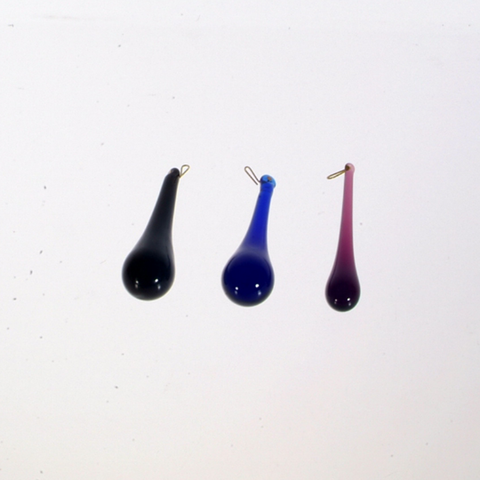 "SPECIAL 3"" Colored Raindrops<br>(Box of 25)<br>Black, Blue or Amethyst"