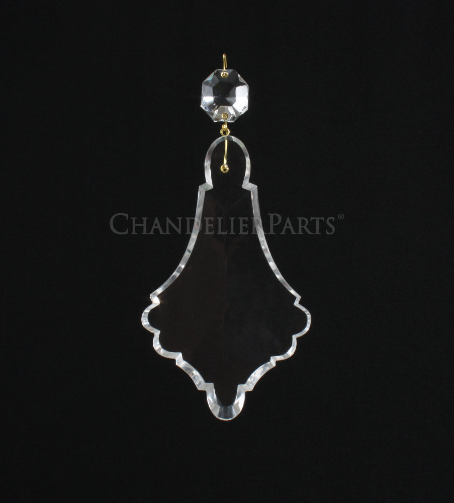 Czech Crystal Pendalogue w/ Top Bead <br> (3 sizes)