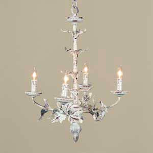 Small Cream Leaf Chandelier