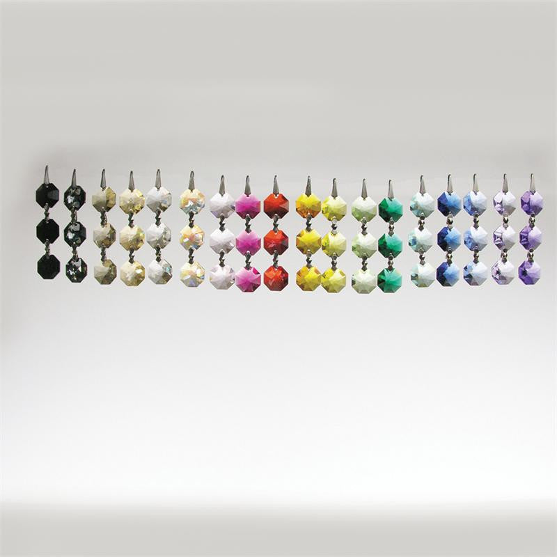 SWAROVSKI STRASS®<BR>3-Bead 14mm Colored Chain (22 colors)