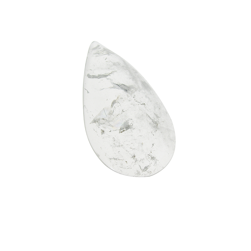 Clear Half Pear Rock Crystal <br> (7 sizes)