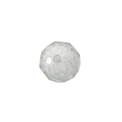 Clear Faceted Bead Rock Crystal, center through-hole (4 sizes)