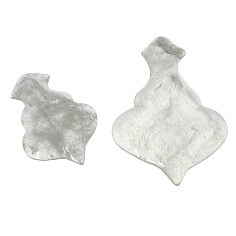 Clear Fleur Rock Crystal (various sizes)