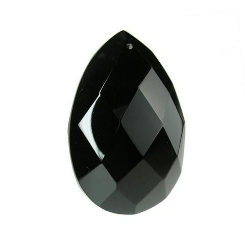 Jet Black Brilliant Crystal Almond <br>(2 sizes)