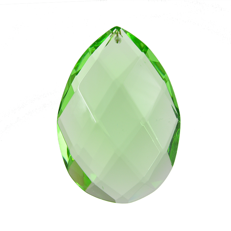 Emerald Green Brilliant Crystal Almond (2 sizes)