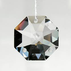 SWAROVSKI STRASS®<BR>Clear Octagons, 3 Hole (2 sizes)