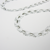 Clear 14mm Square Bead Chain<br>1 Meter