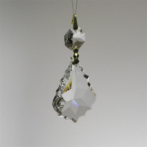 SWAROVSKI STRASS®<br>50mm Clear Pendant w/ octagon