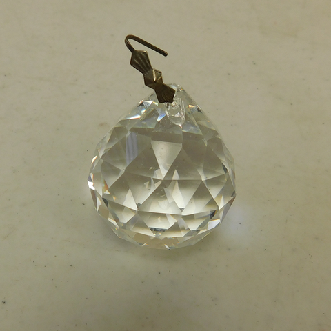 40mm Leaded Faceted ball with Chrome Bowtie Hangers