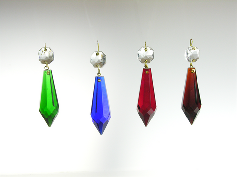 2 1/2'' Colored Point Cut Prisms <br> (3 colors)