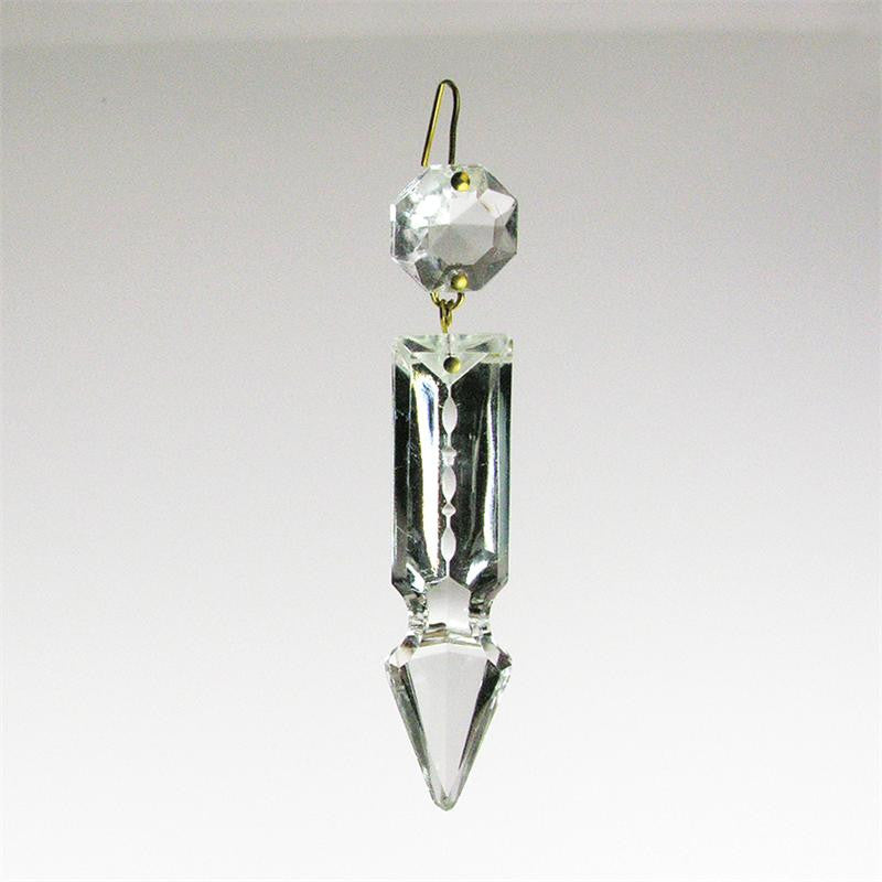 Notched Cut Crystal Spear <br> (3 sizes)