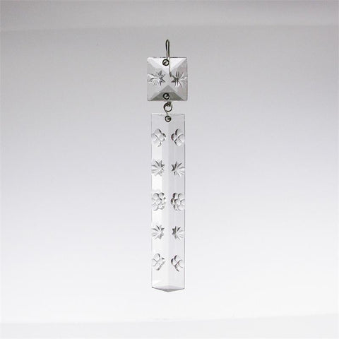 Czech Crystal Star Etched Colonial w/ Matching Top Bead <br> (7 sizes)