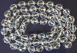 Clear Polished Faceted Chain, 1 Meter<br>2 sizes
