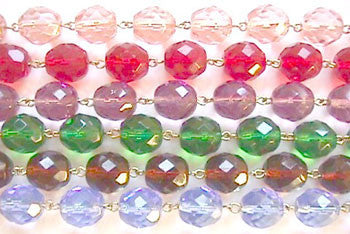 Colored 12mm Round Bead Chain, 1 Meter (6 colors)