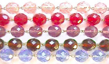 Colored prism chains-8mm