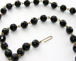 Black Bead Chain - 10 mm