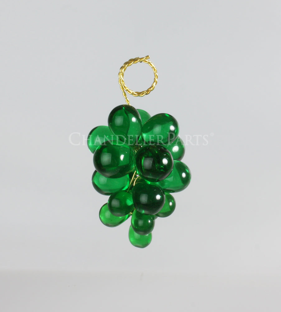 19 Crystal Grape Cluster w/ Gold Wire <br> (8 colors)