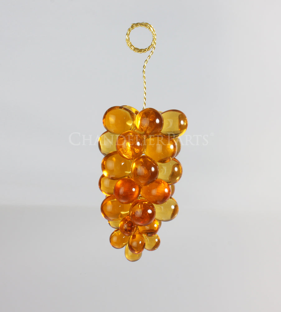 36 Crystal Grape Cluster w/ Gold Wire <br> (4 colors)