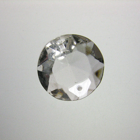 Clear 2 Hole Rose Jewel (3 sizes)<br> Pack of 10