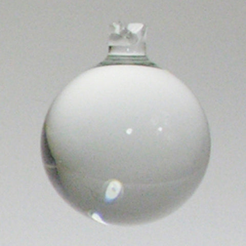 Clear Plain Balls w/ Top Shank (10 sizes)