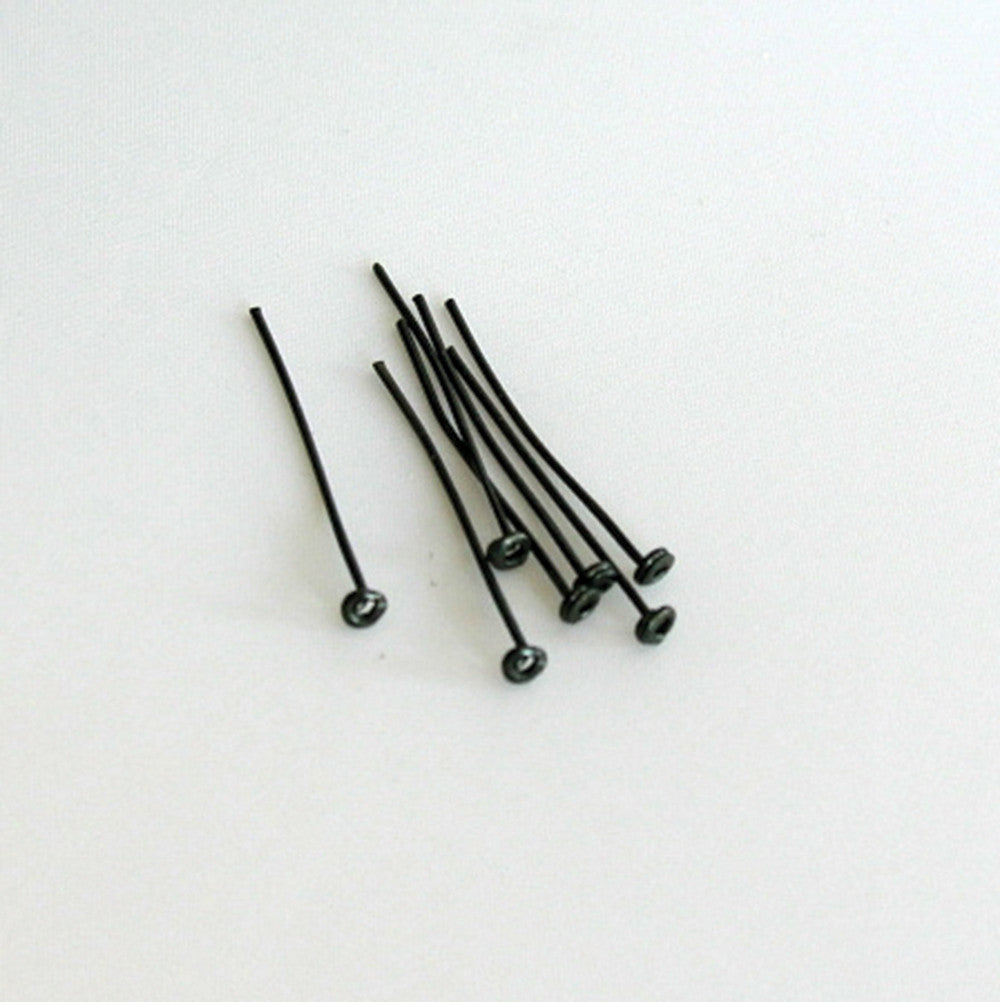 Black Antique Headed Pins (100/pack)