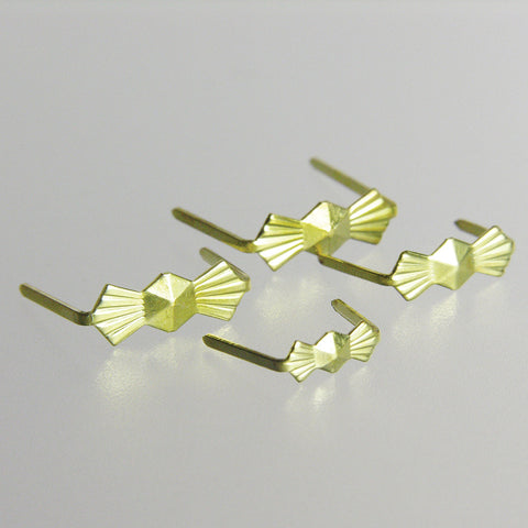 Brass Bow Tie Hangers <br>(25/pack) 4 sizes
