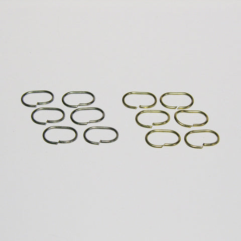 Oval Rings (2 sizes) Brass or Chrome