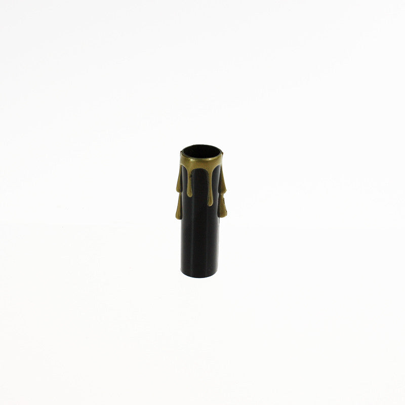 Black Candle Cover w/ Gold Drip (2 sizes), medium base