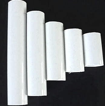 White Plastic Candle Covers (7 sizes), medium base (Pack of 12)