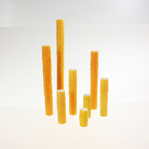 Golden Rod (Honey) Drip Beeswax Candle Covers (7 sizes), candelabra base